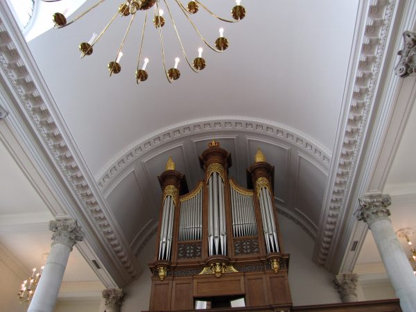 image of  a church ceiling